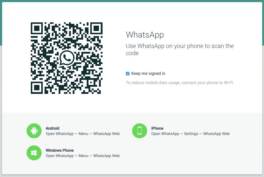 whatsapp web ohne qr code anmelden